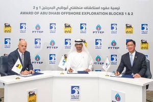 Abu Dhabi trao giấy phép thăm dò tại 2 Lô dầu khí ngoài khơi cho Eni và PTTEP