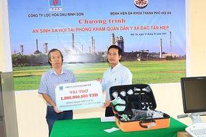 BSR trao thiết bị y tế tại Cù Lao Chàm
