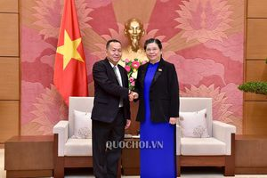 Phó Chủ tịch Thường trực Quốc hội Tòng Thị Phóng tiếp Tổng Giám đốc Thông tấn xã Pathet Lào