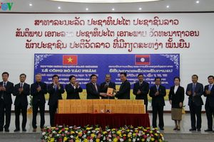 Giám đốc Học viện Chính trị quốc gia HCM chào xã giao TBT-CTN Lào