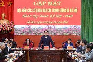 TP Hà Nội gặp mặt, chúc Tết các cơ quan báo chí