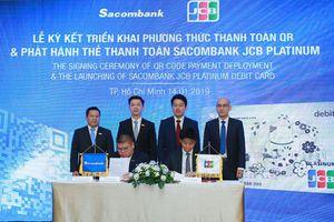 Sacombank bắt tay JCB triển khai phương thức thanh toán QR