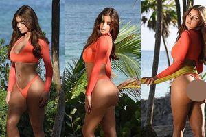 Demi Rose khoe ba vòng 'bỏng rẫy' với bikini hai mảnh