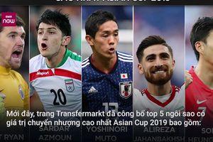 Top 5 cầu thủ có giá trị chuyển nhượng cao nhất Asian Cup 2019