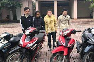 Bắt nhóm trộm cắp xe máy liên tỉnh