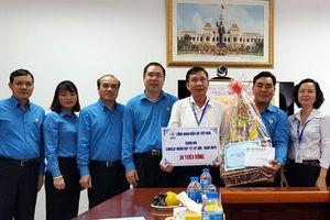 Công đoàn Điện lực Việt Nam thăm, động viên người lao động dịp Tết