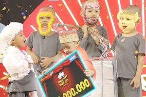 5 chú tiểu mồ côi 'ẵm' 200 triệu đồng, phá lệ 'Thách thức danh hài'