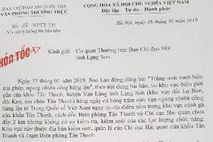 Yêu cầu kiểm tra và xử lý thông tin buôn lậu ở Lạng Sơn