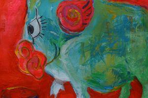 Triển lãm tranh chuyên đề về con giáp của năm Kỷ Hợi