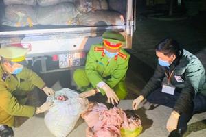 Thanh Hóa: Bắt vụ vận chuyển 1,7 tấn bì lợn hôi thối đi tiêu thụ