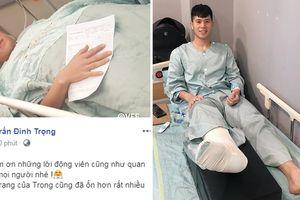 Từ Hàn Quốc, Đình Trọng báo tin vui sau phẫu thuật, không quên chúc mừng ĐT Việt Nam