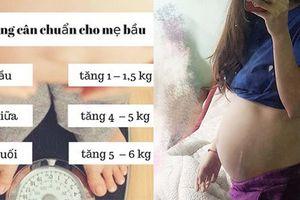 Mức tăng cân chuẩn cho mẹ bầu trong từng tháng thai kỳ