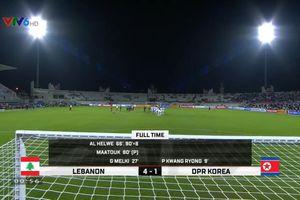 Nghẹt thở: Lebanon 4-1 CHDCND Triều Tiên, Việt Nam 'lách khe cửa hẹp' vào vòng 1/8