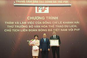 Thứ trưởng Lê Khánh Hải: Mong PVF sẽ đào tạo thêm nhiều tài năng trẻ hơn nữa cho BĐVN