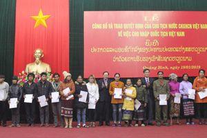 Nhập Quốc tịch Việt Nam đối với 18 công dân Lào di cư tự do