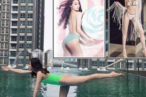 Tình cũ Lương Bằng Quang trổ tài tập yoga trên nước