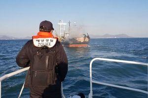 Cháy tàu cá ngoài khơi Hàn Quốc, 1 người Việt Nam mất tích