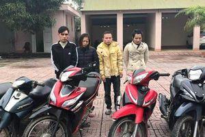 Hà Tĩnh: Bắt khẩn cấp nhóm 'siêu trộm' xe máy liên tỉnh
