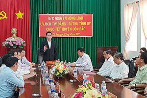 Lãnh đạo tỉnh thăm, chúc Tết tại huyện Côn Đảo