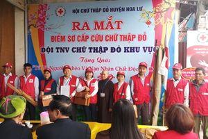 Ra mắt điểm sơ cấp cứu chữ thập đỏ tại xã Ninh An