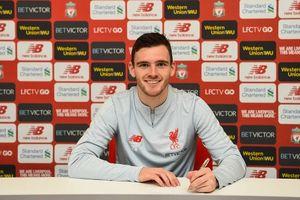 Liverpool giữ chân thành công 'món hời' Andrew Robertson