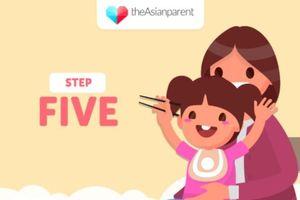 5 bước đơn giản dạy bé sử dụng đũa thành thạo