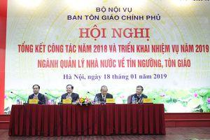 Ban Tôn giáo Chính phủ triển khai nhiệm vụ công tác năm 2019