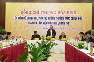 Phó Thủ tướng Trương Hòa Bình thăm, làm việc tại Quảng Trị