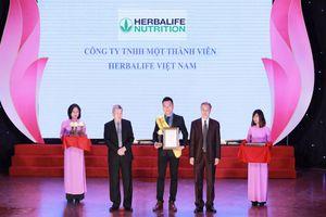 Herbalife lần thứ ba nhận giải thưởng 'Sản phẩm vàng vì sức khỏe cộng đồng'