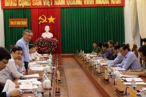 Kiểm tra công tác phòng chống tham nhũng tại Ninh Thuận