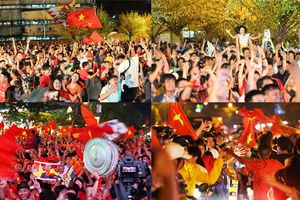 CĐV TPHCM 'đi bão xuyên đêm' mừng Việt Nam vào tứ kết Asian Cup