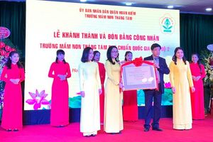 Quận Hoàn Kiếm có thêm trường chuẩn quốc gia mức độ 2