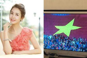 Mỹ nhân Hàn mừng ông Park Hang Seo cùng tuyển Việt Nam thắng Jordan