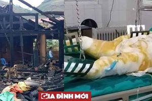 Điện Biên: Sau cãi vã, chồng tẩm xăng đốt nhà, 5 đứa con bơ vơ vì mất mẹ
