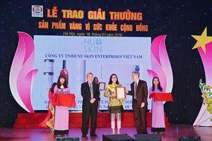 Nu Skin VN được vinh danh 'Sản phẩm vàng vì sức khỏe cộng đồng'