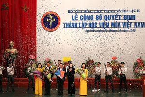 Thành lập học viện múa Việt Nam