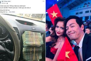 Gặp Nhật Bản ở tứ kết, MC Phan Anh khoe chồng cọc tiền khủng đặt cửa Việt Nam