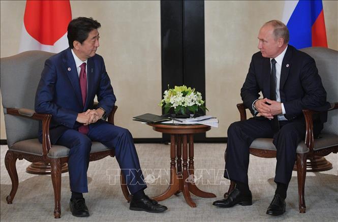 Thủ tướng Nhật Bản gặp Tổng thống Nga thúc đẩy giải quyết tranh chấp lãnh thổ