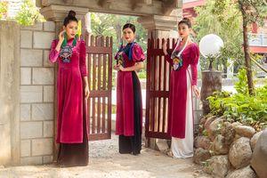 Độc đáo và đặc sắc như áo dài nhung lấy cảm hứng từ nghệ thuật Tuồng