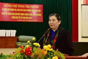 Phó Chủ tịch Thường trực Quốc hội Tòng Thị phóng thăm, chúc Tết Đảng bộ, chính quyền, nhân dân huyện Anh Sơn, Nghệ An