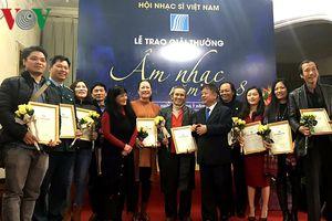 61 tác phẩm giành giải thưởng âm nhạc Hội Nhạc sĩ Việt Nam năm 2018
