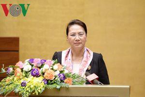Chủ tịch Quốc hội gặp mặt các nguyên lãnh đạo và đại biểu Quốc hội