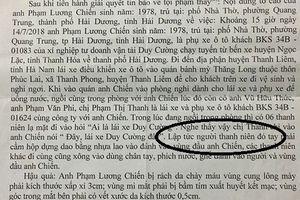 Công an huyện Thanh Liêm (Hà Nam) nói gì về việc dân 'tố' cơ quan điều tra cố tình bỏ lọt tội phạm?