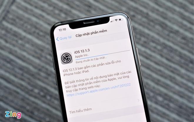 Đã có thể tải bản cập nhật iOS 12.1.3 cho iPhone, iPad