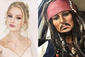Nghệ sĩ trang điểm hóa thân từ cướp biển đến tổng thống Mỹ