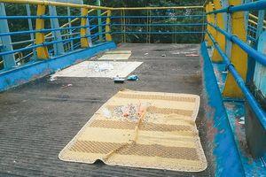 Nhếch nhác tại cầu đi bộ Trần Đại Nghĩa