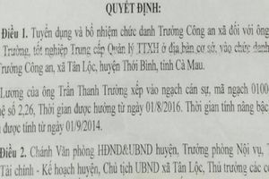 Trưởng Công an xã ở Cà Mau xài bằng 'dỏm' bị cách chức