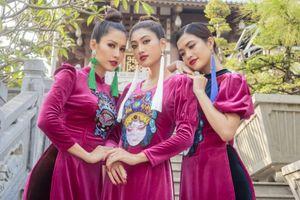 Hoa hậu Phan Thu Quyên duyên dáng trong áo dài 'Dáng Việt muôn nơi'