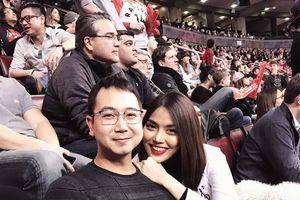 Lan Khuê 'tháp tùng' chồng John Tuấn Nguyễn tại sự kiện thể thao bên hội bạn 'nhà giàu'