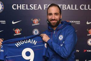 Higuain gia nhập Chelsea, mang số áo dính lời nguyền ở Stamford Bridge